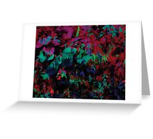 Flora Celeste Ruby Leaves  Greeting Card