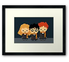 Harry Potter Pixel Friends Trio! Harry, Ron and Hermione Framed Print