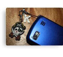 Pirate Blue Phone Canvas Print