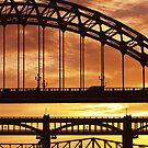Sunset Over The Tyne Bridge by Great North Views