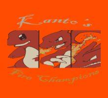 Kanto's Fire Champions by KreissCore