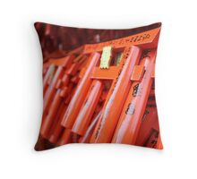 Teeny Tiny Torii Gates Throw Pillow