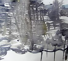 Winter out of the train window I by May Hege  Rygel