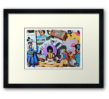 Homage to Pop Art Framed Print