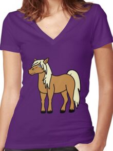 Palomino Horse Women's Fitted V-Neck T-Shirt
