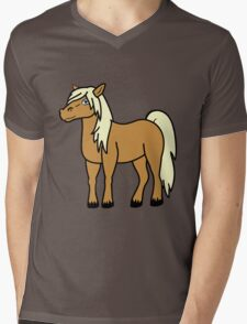 Palomino Horse Mens V-Neck T-Shirt