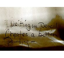 Writing in Pencil  Photographic Print