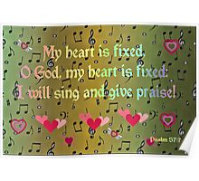 My Heart is Fixed, O God! Poster