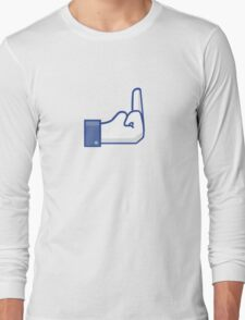 Facebook finger Long Sleeve T-Shirt