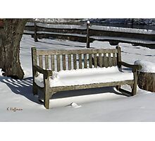 Weathered Bench Photographic Print