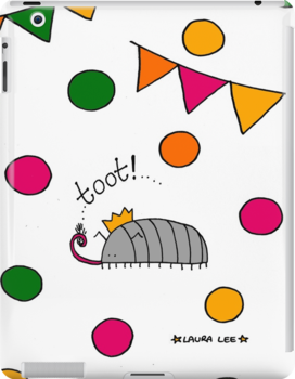 Tooting Party Woodlouse  by LauraLeeDesigns