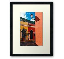 Old San Juan Street Corner Framed Print