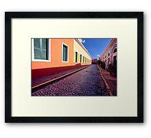 Cobblestone Street Framed Print