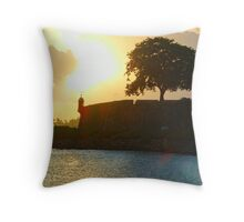 Old San Juan Sunset, Throw Pillow