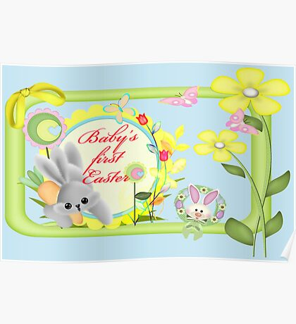 Baby's First Easter Card Poster
