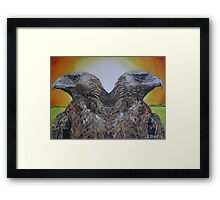 Twin Eagles, 2000 (colour pencil) Framed Print