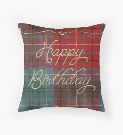 Happy Birthday Card  Throw Pillow