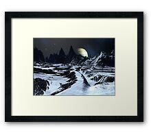 Track Across the Badlands Framed Print