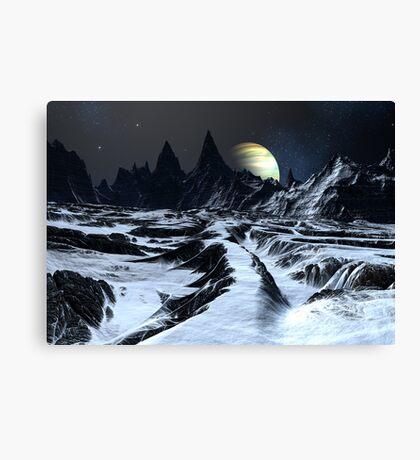 Track Across the Badlands Canvas Print