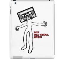 Old skool cassette man iPad Case/Skin