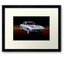 1963 Corvette Stingray w/o ID Framed Print