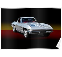 1963 Corvette Stingray w/o ID Poster