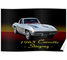 1963 Corvette Stingray w/ ID Poster