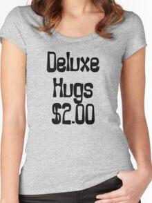 Deluxe Hugs $2 Women's Fitted Scoop T-Shirt
