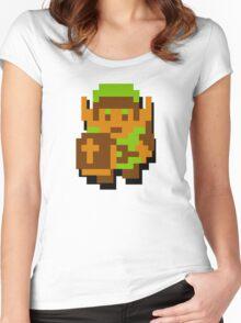 Zelda Link 8-bit Nintendo Women's Fitted Scoop T-Shirt