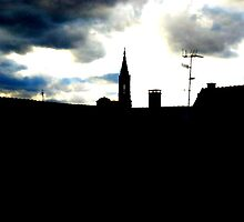 Strasbourg Cathedral over the roof by deThierry
