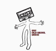 Old skool cassette man Kids Tee