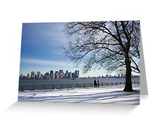 Stroll in the park. Greeting Card
