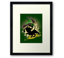 Super Smash Bros. Yellow Duck Hunt Dog Silhouette Framed Print