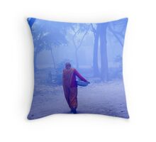 Lady With Load Throw Pillow