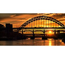 Newcastle at Sunset Photographic Print