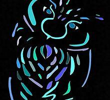 Blue Owl by lilu1012