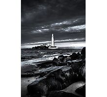 Light by the Rocks Photographic Print