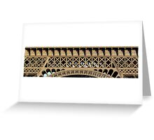 The list of scientists - Detail on Eiffel Tower (click!) Greeting Card