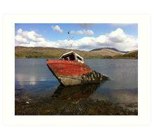 The Sunken Boat Art Print