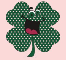 Retro Dots Cartoon Comic Shamrock T-Shirt Kids Clothes