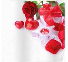 valentine candle Poster