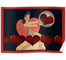 Wonder Woman Valentine Poster