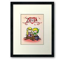 The Legend of Zelda : Valentine's day Framed Print