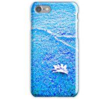 Tree leaf on blue ground. iPhone Case/Skin