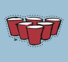 Beer Pong Cutout One Piece - Short Sleeve