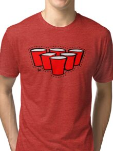 Beer Pong Cutout Tri-blend T-Shirt