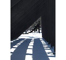 Winter shadows Photographic Print