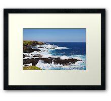 Crashing waves at The Nobbies Framed Print