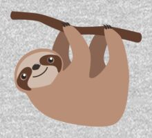 Cute Sloth on a Branch Kids Tee