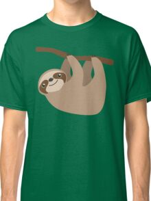 Cute Sloth on a Branch Classic T-Shirt